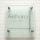 フラットガラス表札Gシリーズ「正方形150裏面フロスト」