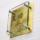 フラットガラス表札Gシリーズ「正方形150クリア(ステンレス板・金箔仕様)」